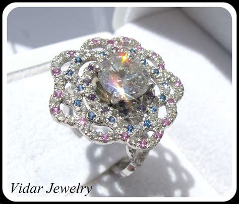 2 ct diamond flower engagement ring vidar jewelry unique custom engagement and wedding rings
