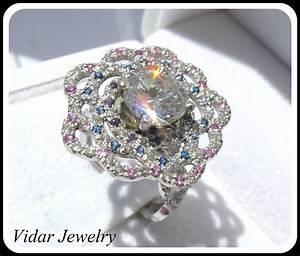2 ct diamond flower engagement ring vidar jewelry With diamond flower wedding ring