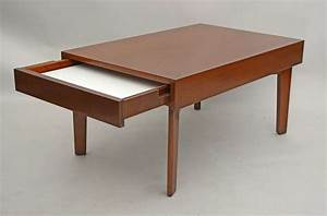 george nelson coffee table with pull out trays for sale at With coffee table with pull out tray