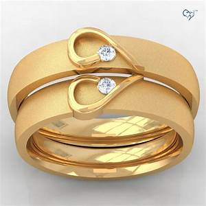 couple wedding rings gold wedding promise diamond With wedding ring for couples