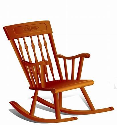 Rocking Chair Clipart Clip Chairs Cartoon Rock