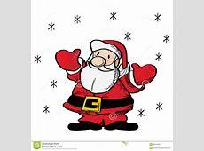 WeihnachtsmannClipart vektor abbildung Illustration von