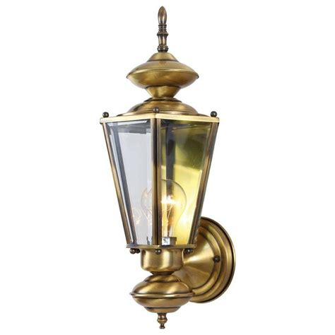 volume lighting 1 light antique solid brass outdoor wall