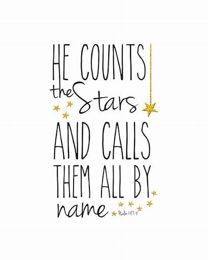 Psalm 147 Printable Stars Sparkle Sara Formatted