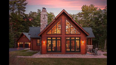 hybrid log lake home dickinson homes youtube