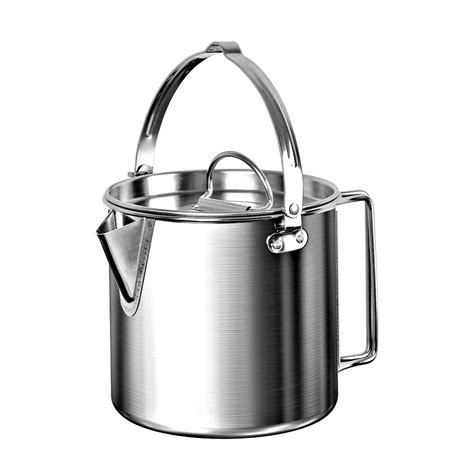kettle camping stainless steel pot lightweight outdoor hiking 2l campfire coffee backpacking cooking picnic compact oz comp teakettle