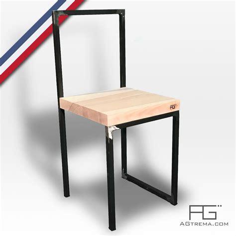 chaise en acier chaise vales en acier brut et bois massif agtrema