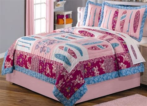 surf quilt bedding girls surfing bedding set in full or twin