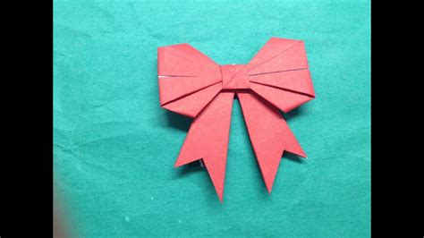 How To Fold A Paper Bow/ribbon
