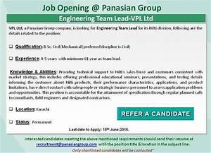 Job Opening in Panasian Group - Civil Engineers PK