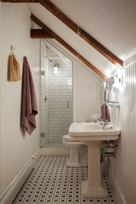magnificient attic bathroom designs rilane