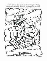 Pirate Coloring Pages Ship Printables Piraten Theme Crafts Party Crew Kleurplaat Piratenboot Pirates Ships Colouring Schatkaart Sheets Preschool Printable Pirata sketch template