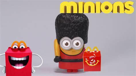 mcdonalds minions happy meal  minion  british guard minion youtube
