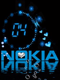 Animated Nokia Mobile Phone Wallpapers - wallpaperew nokia clock mobile wallpaper
