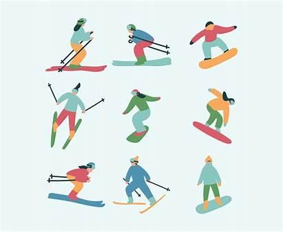 Skier Skiers Freevector