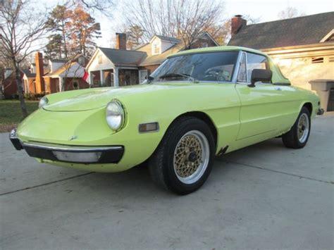 Vintage 1972 Usa Alfa Romeo Spider Kamm Tail Dual Webers