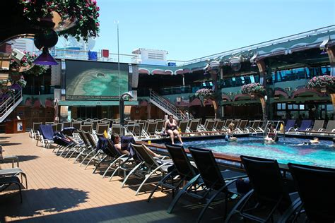 lido deck tv  pool carnival splendor  shari