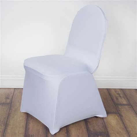 white spandex chair cover efavormart