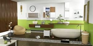 5 idees pour une salle de bain zen woodeco With salle de bain bois zen