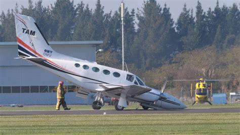 stricken airplane crash lands at hamilton airport stuff co nz