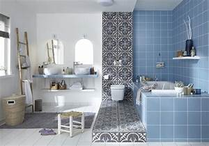 emejing salle de bain bleu et gris gallery amazing house With salle de bain bleu blanc gris