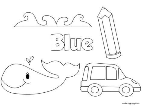 color blue worksheets worksheets