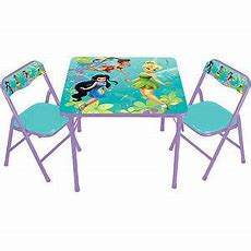 Disney Fairies Tinkerbell Kids Table And Chair Set New Ebay