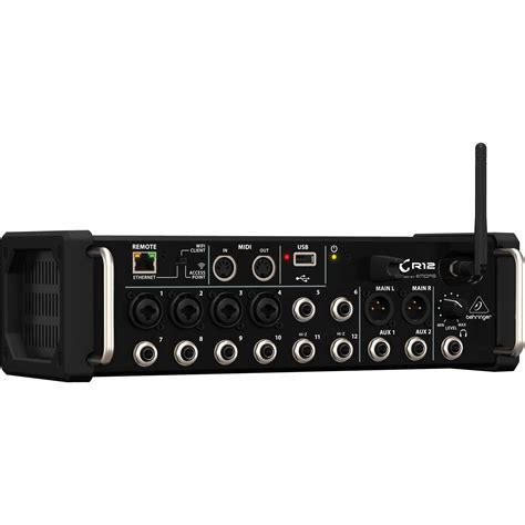 behringer x air xr12 digital rackmount mixer behringer x air xr12 12 input digital mixer xr12 b h photo