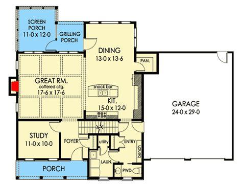 colonial farmhouse plan  open concept main floor glv architectural designs house