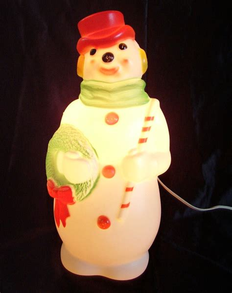 vintage large lighted blow snowman empire snowman lighted mold vintage snowmen