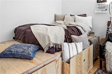 beds for small studio apartments tiny dreamy studio apartment with a raised bed daily dream decor