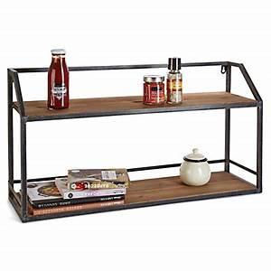 Etagere Metal Cuisine : etag re murale rangements salon tablettes et tag res ~ Premium-room.com Idées de Décoration