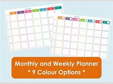 Printable Weekly Family Planner and Monthly Calendar 9