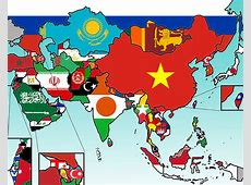 Asian Flags Clickable Minefield Quiz By bhenderson79