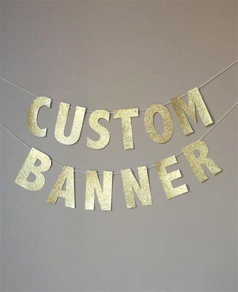 custom gold glitter banner custom name banner custom birthday banner personalized namer