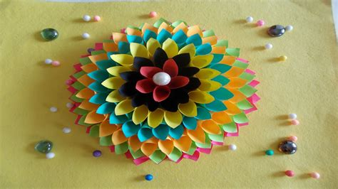 easy diy home decor ideas how to wall decoration with paper summer crafts