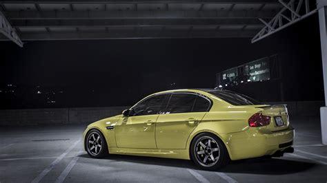 nicely modded dakar yellow bmw  sedan rare cars