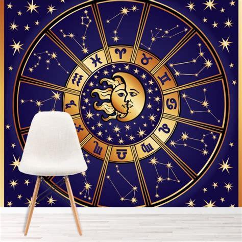 Zodiac Bedroom Decor by Sun Moon Wall Mural Zodiac Signs Wallpaper Bedroom