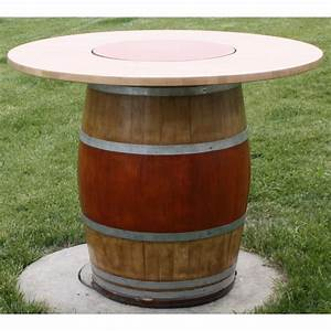 tonneaux table avec plateau tournant juls design