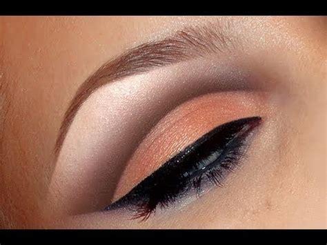 natural peach cut crease makeup tutorial  wedding