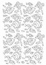 Coloring Fish Pages Adult Water Adults Pisces Numerous Fishes Worlds Printable Lot Dolphin Zentangle Sheets Drawing Poisson Children Sea Greg sketch template