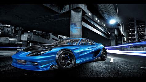 Blue Toyota Supra Wallpaper-1080p