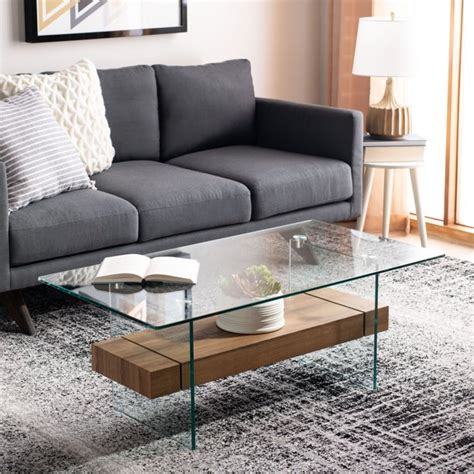 Bring high style to the living room with this bold contemporary pedestal coffee table. Safavieh Kayley Retro 2 Tier Glass Coffee Table - Walmart.com - Walmart.com