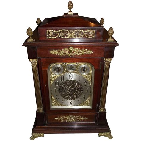 bulova mantel clock made in germany monumental musical fusee movement bracket