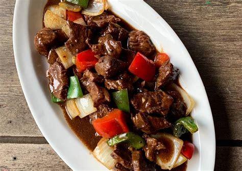 Kini anda bisa menyajikan masakan yang spesial ini untuk keluarga di rumah, tanpa harus membelinya di restoran. Resep Daging Sapi Blackpaper : Resep Sapi Lada Hitam Just Try Taste : 4 siung bawang putih ...