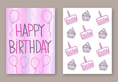 birthday card design free happy birthday card vector free vector