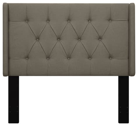 Roma Tufted Wingback Headboard Taupe Fullqueen by Lewis Tufted Wingback Headboard Transitional