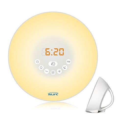 daylight wake up light sunrise alarm clock inlife 2017 newest wake up light