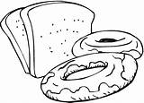 Bread Drawing Coloring Clipartmag Clipart sketch template