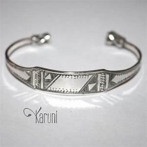 Bracelet En Argent Homme : bijoux touareg ethniques bracelet gourmette en argent homme femme 05 large ~ Carolinahurricanesstore.com Idées de Décoration